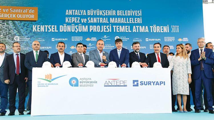 Antalya'nın kepez ve santral mahalleleri'nde kentsel dönüşüm projesi