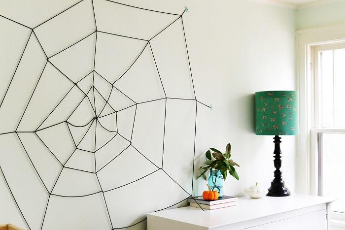 Cadılar bayramına özel örümcek ağı tasarımı