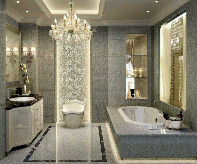 Küçük banyolarda lüks tasarımlar