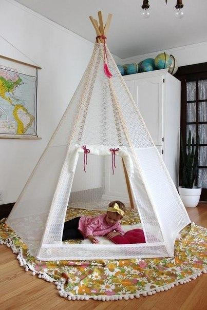 Yaratıcı ve eğlenceli olarak,şirin çadırlar çocuklarınız için